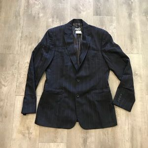 D&G Dolce & Gabanna Pinstripe Blazer Jacket Italy